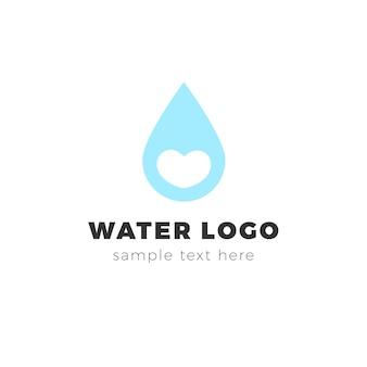 Logotipo moderno de agua