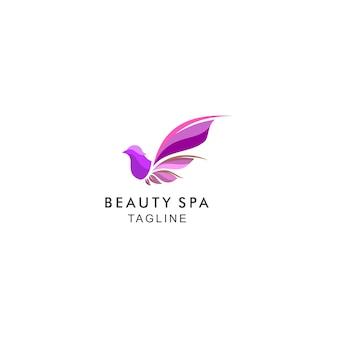 Logotipo moderno de belleza spa