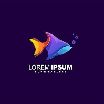 Logotipo moderno de color de pescado