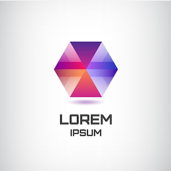 Logotipo moderno colorido geométrico abstracto