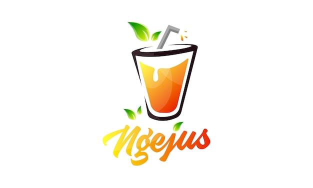 Logotipo moderno de colourfull de jugo