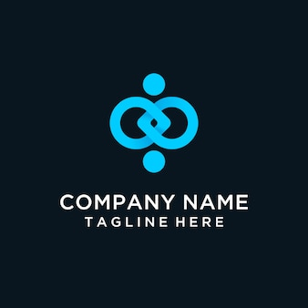 Logotipo moderno de conexión humana