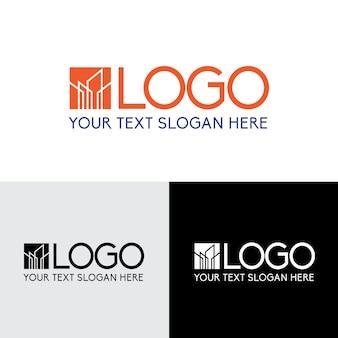 Logotipo moderno de la empresa de construcción de edificios