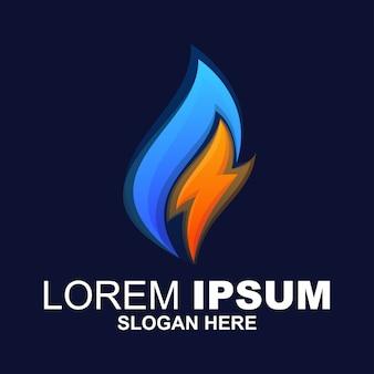 Logotipo moderno de energía de gas y petróleo