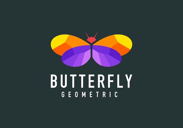 Logotipo moderno de forma de mariposa geométrica