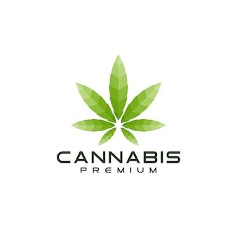 Logotipo moderno de hoja de cannabis