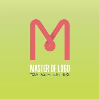 Logotipo moderno de la letra m