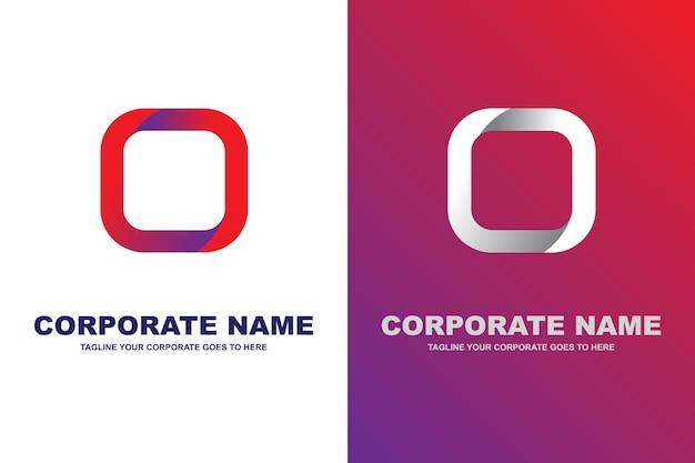 Logotipo moderno de la letra o