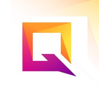 Logotipo moderno de la letra q