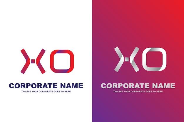 Logotipo moderno de la letra xo