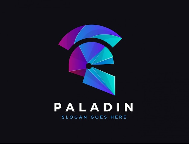 Logotipo moderno de paladín