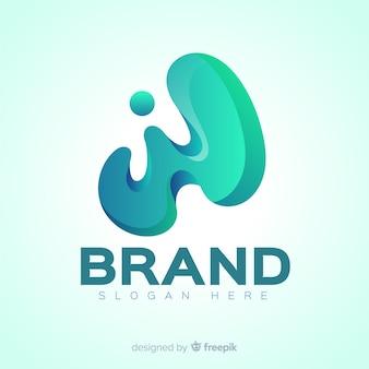 Logotipo moderno de redes sociales degradado