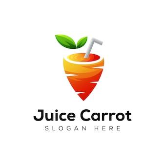 Logotipo moderno de zanahoria de jugo