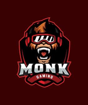 Logotipo de monk gaming e sports