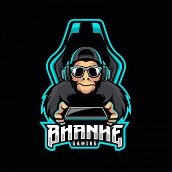 Logotipo de mono esport