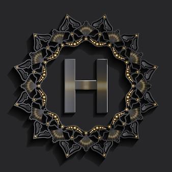 Logotipo de monograma de efecto 3d