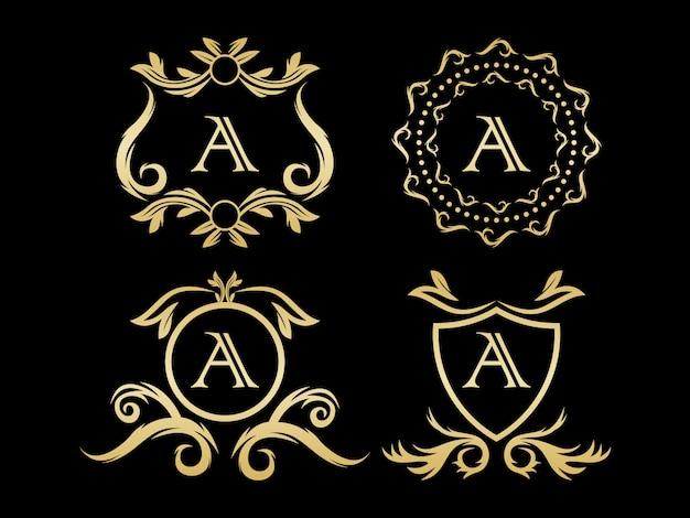 Logotipo de monograma de lujo