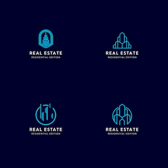 Logotipo monoline inmobiliario