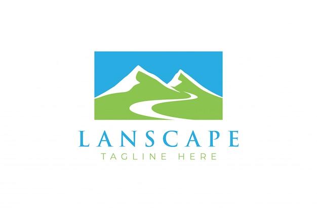 Logotipo de montañas / paisaje