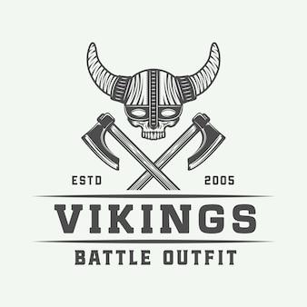 Logotipo de motivación de los vikingos.