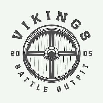 Logotipo motivacional de vikingos