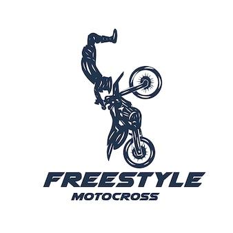 Logotipo de moto cross freestyle sport