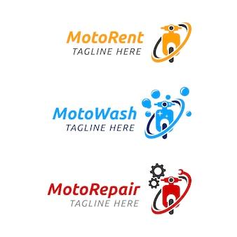 Logotipo de moto rent
