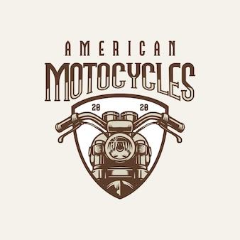 Logotipo de motocicleta grande americano vintage