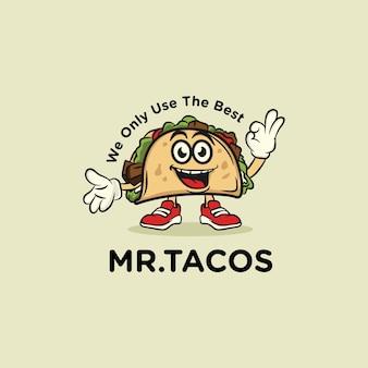 Logotipo de mr. tacos food