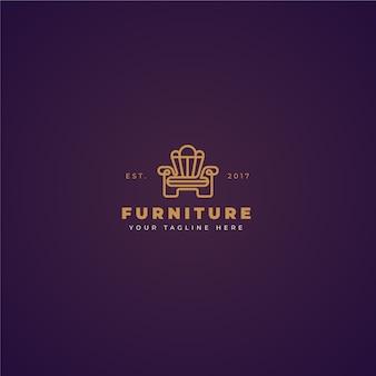 Logotipo de muebles de diseño elegante