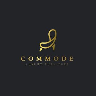 Logotipo de muebles elegantes