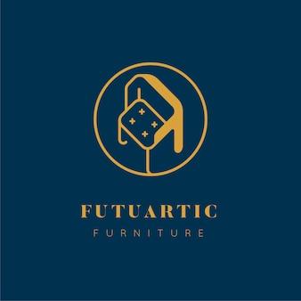Logotipo de muebles de estilo elegante