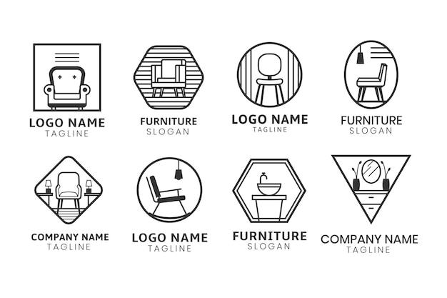Logotipo de muebles de estilo minimalista