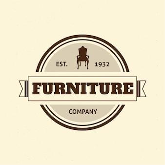 Logotipo de muebles retro