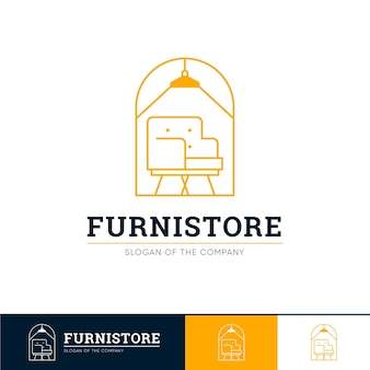 Logotipo de muebles para tienda