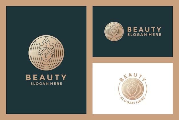 Logotipo de mujer de belleza elegante