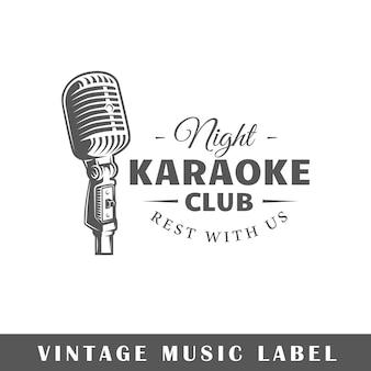 Logotipo de la música aislado en blanco