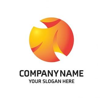 Logotipo naranja con una esfera