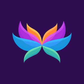 Logotipo natural de belleza abstracta