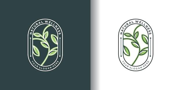 Logotipo de la naturaleza con concepto único.