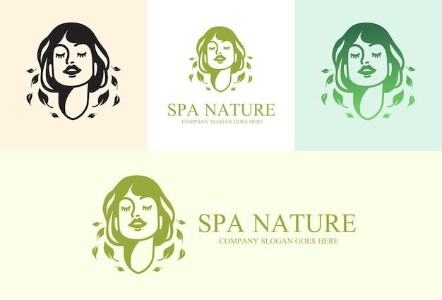 Logotipo de naturaleza spa