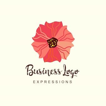 Logotipo del negocio de flores