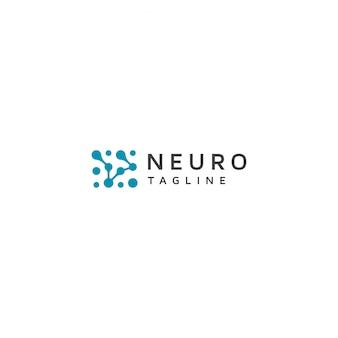 Logotipo de neurona con lema