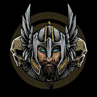 Logotipo nórdico vikingo