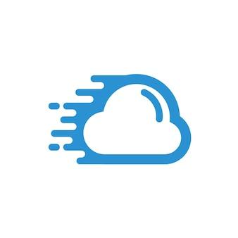 Logotipo de nube rápida
