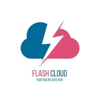 Logotipo con una nube y un rayo