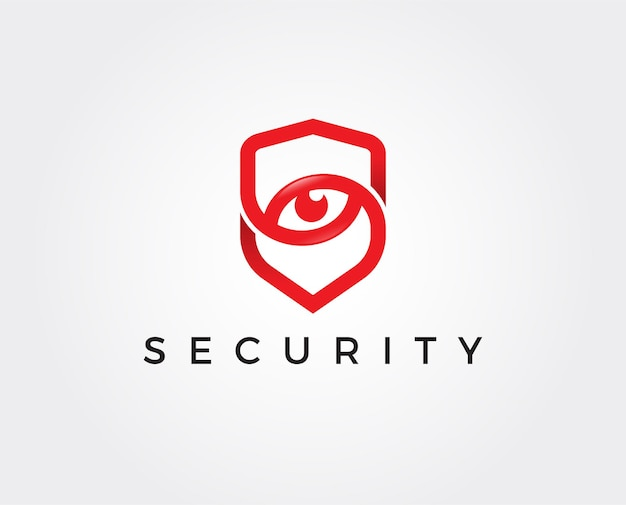 Logotipo de ojo de seguridad mínimo