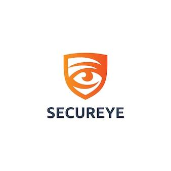 Logotipo de ojo seguro
