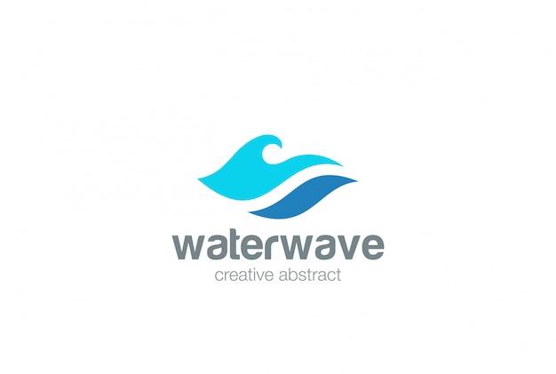 Logotipo de la ola de agua