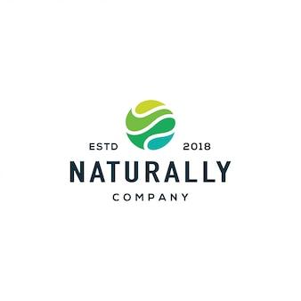 Logotipo de la onda de la naturaleza